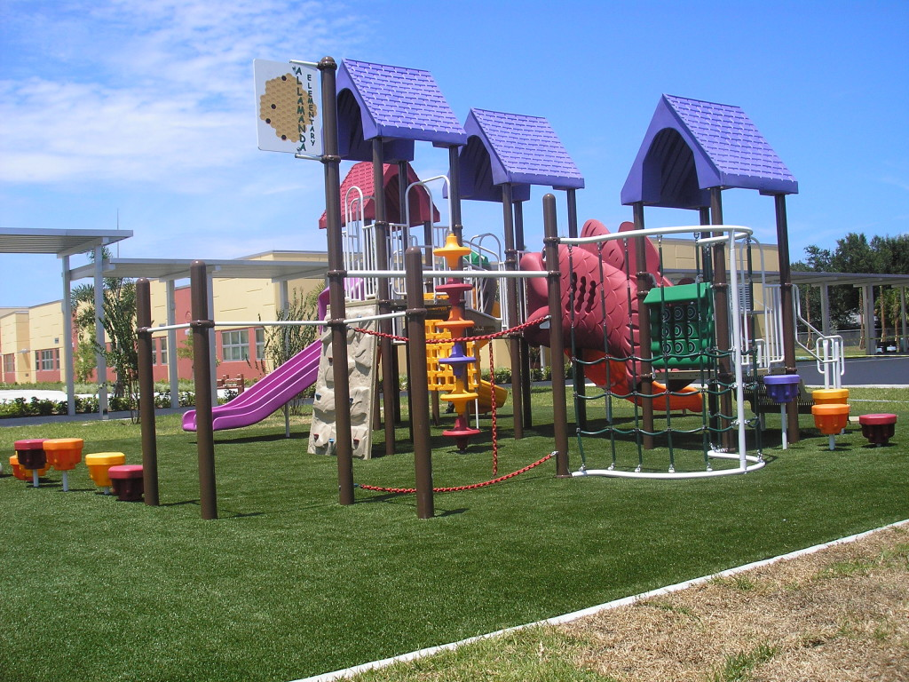 Synthetic Turf International SoftLawn Playground Safety Surfacing System