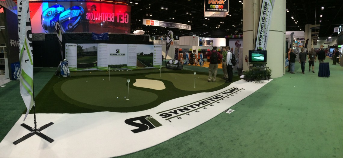 The STI Booth at the 2014 PGA Merchandise Show.