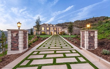 Synthetic Turf Paver Driveway (Southern Oaks, California)