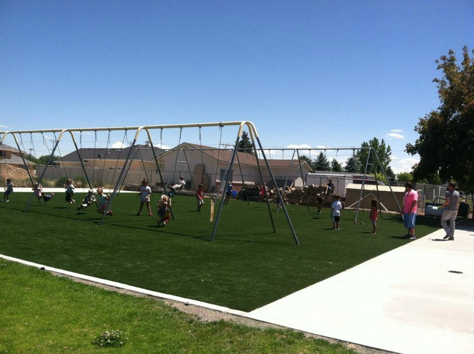 Immanuel Lutheran After STI Playground Turf Installation