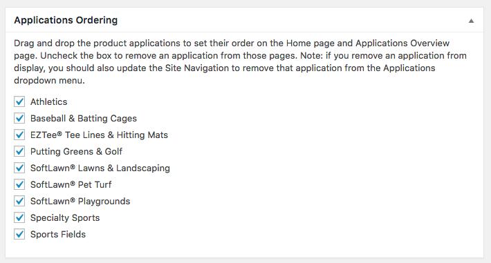 Applications Ordering Meta Box