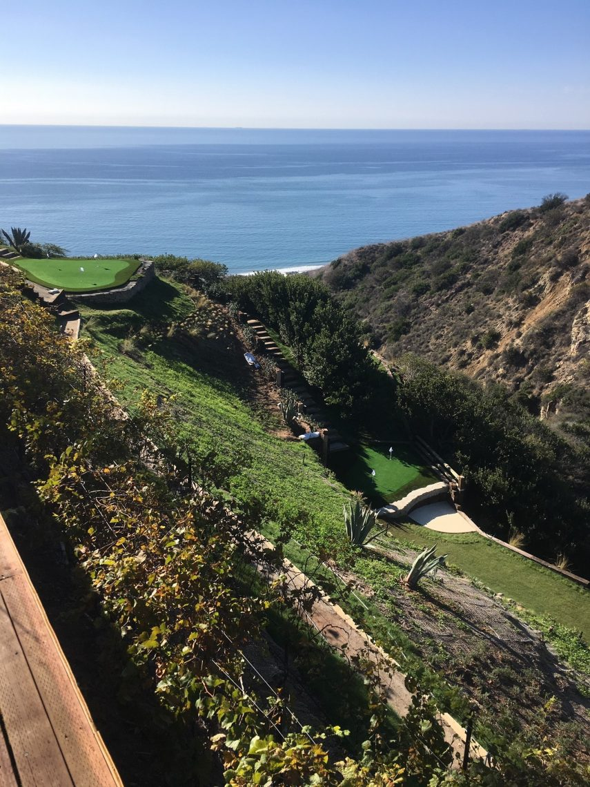 Malibu Putting greens with views of the Pacific Ocean
