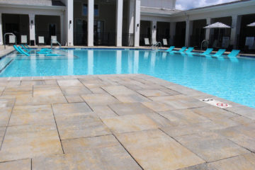 Brick Paver Patio Poolside